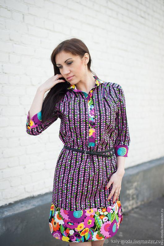 dresses: Dress-shirt, and anikinskiy cotton ' Sheets', Dresses, Moscow,  Фото №1