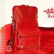 Сумки и аксессуары ручной работы. Ярмарка Мастеров - ручная работа Рюкзак Twins Bags Red. Handmade.