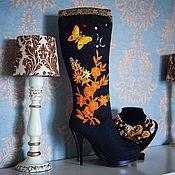 """Обувь ручной работы. Ярмарка Мастеров - ручная работа Валенки  """"Настроение Орандж"""". Handmade."""