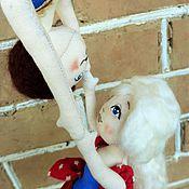 """Куклы и игрушки ручной работы. Ярмарка Мастеров - ручная работа """"Винтажный цирк"""" Воздушные гимнасты, текстильные куклы. Handmade."""