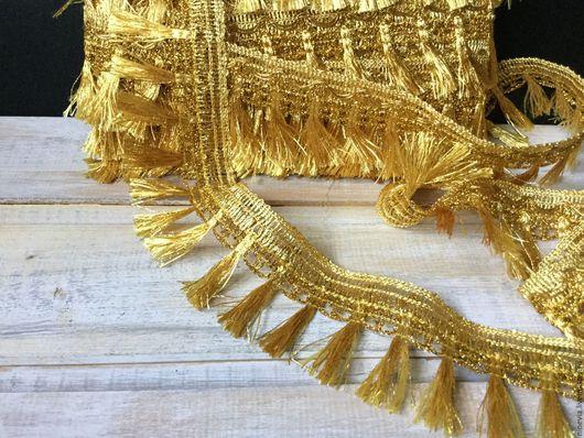 Шитье ручной работы. Ярмарка Мастеров - ручная работа. Купить Бахрома золото. Handmade. Золотой, бахрома для отделки