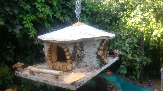 """Для других животных, ручной работы. Ярмарка Мастеров - ручная работа. Купить Кормушка """"Бунгало"""". Handmade. Кормушка для птиц, береста"""