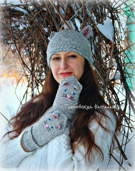 mischievous, warm kit 'kisunya', Headwear Sets, Orenburg,  Фото №1