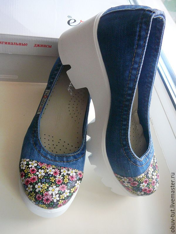 c195d55b8 ручной работы. Ярмарка Мастеров - ручная работа. Купить Джинсовые женские  туфли 36,37 ...
