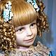 Портретные куклы ручной работы. Ярмарка Мастеров - ручная работа. Купить Маленькая принцесса. Handmade. Бирюзовый, авторская кукла, бархат