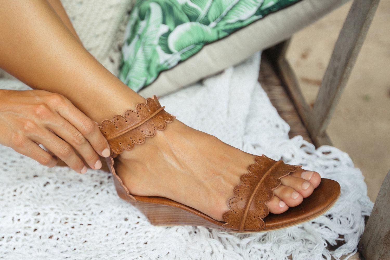 Обувь ручной работы. Ярмарка Мастеров - ручная работа. Купить Magdalena. Босоножки на танкетке, в стиле бохо. Handmade. Лето