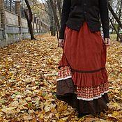 """Одежда ручной работы. Ярмарка Мастеров - ручная работа Вельветовая юбка """"Теплая осень"""". Handmade."""