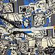 Шитье ручной работы. Плательный креп-кади 'Комиксы', MSGM. Элегантные ткани Италии. Ярмарка Мастеров. Принт комиксы
