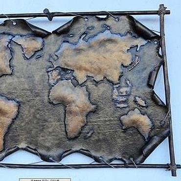 Для дома и интерьера ручной работы. Ярмарка Мастеров - ручная работа Карта мира. Handmade.