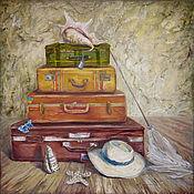 """Картины и панно ручной работы. Ярмарка Мастеров - ручная работа Картина маслом """"Чемоданное настроение"""". Handmade."""
