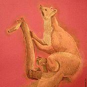 Картины и панно ручной работы. Ярмарка Мастеров - ручная работа Мечтающий хорек. Handmade.