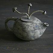 Посуда ручной работы. Ярмарка Мастеров - ручная работа Чайник. Грибы.. Handmade.