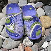"""Обувь ручной работы. Ярмарка Мастеров - ручная работа Валяные тапочки """" Водоворот"""". Handmade."""