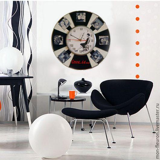 """Часы для дома ручной работы. Ярмарка Мастеров - ручная работа. Купить Часы """"Время любить..."""". Handmade. Интерьерное украшение"""