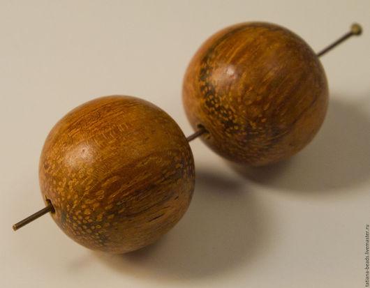 Для украшений ручной работы. Ярмарка Мастеров - ручная работа. Купить Бусины красно-коричневые шарики из дерева байонг 20 мм. Handmade.