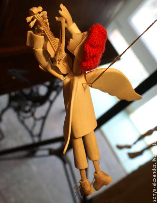 Миниатюра ручной работы. Ярмарка Мастеров - ручная работа. Купить Ангел парящий со скрипкой. Handmade. Разноцветный, оригинальные подарки