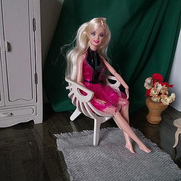 "Dolls & toys handmade. Livemaster - original item Furniture for dolls-Doll chair "" Shell"". Handmade."