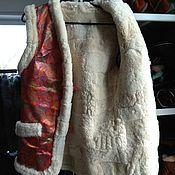 Одежда handmade. Livemaster - original item Women`s sheepskin fur vests 44,46,48. Handmade.