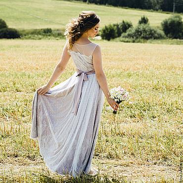 Свадебный салон ручной работы. Ярмарка Мастеров - ручная работа Свадебное платье в стиле рустик. Handmade.
