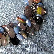 Украшения ручной работы. Ярмарка Мастеров - ручная работа Хиппи Лав БОХО браслет объемный из чешского стекла. Handmade.