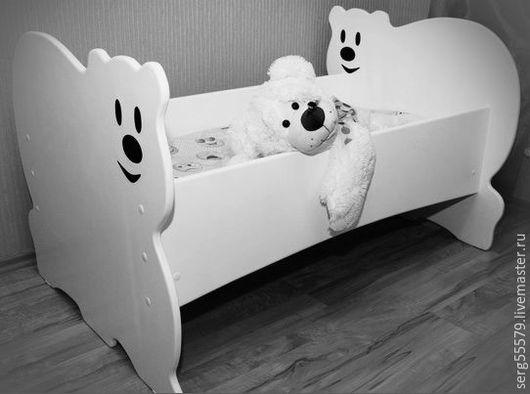 """Детская ручной работы. Ярмарка Мастеров - ручная работа. Купить Кровать """"Белый мишка"""". Handmade. Белый, детская мебель"""