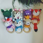 Куклы и игрушки handmade. Livemaster - original item Rodent rattle teether knitted toy wholesale. Handmade.
