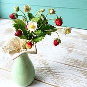 Для дома и интерьера ручной работы. Ярмарка Мастеров - ручная работа Земляничная композиция в вазочке. Handmade.
