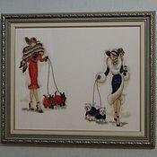 """Картины и панно ручной работы. Ярмарка Мастеров - ручная работа Картина """"Дама с собачкой"""". Handmade."""