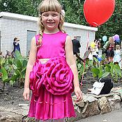 """Работы для детей, ручной работы. Ярмарка Мастеров - ручная работа Платье """"Шелковая Роза"""" с объемными цветами. Handmade."""