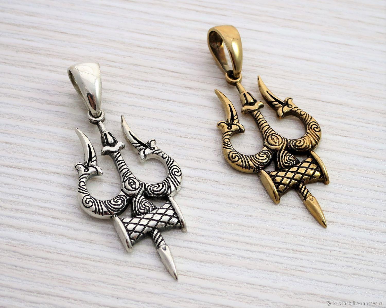 76a5d80a25 Kurnosov · Pendants handmade. Trishula pendant - Shiva's trident, divine  trinity - handcrafted jewel. Kurnosov
