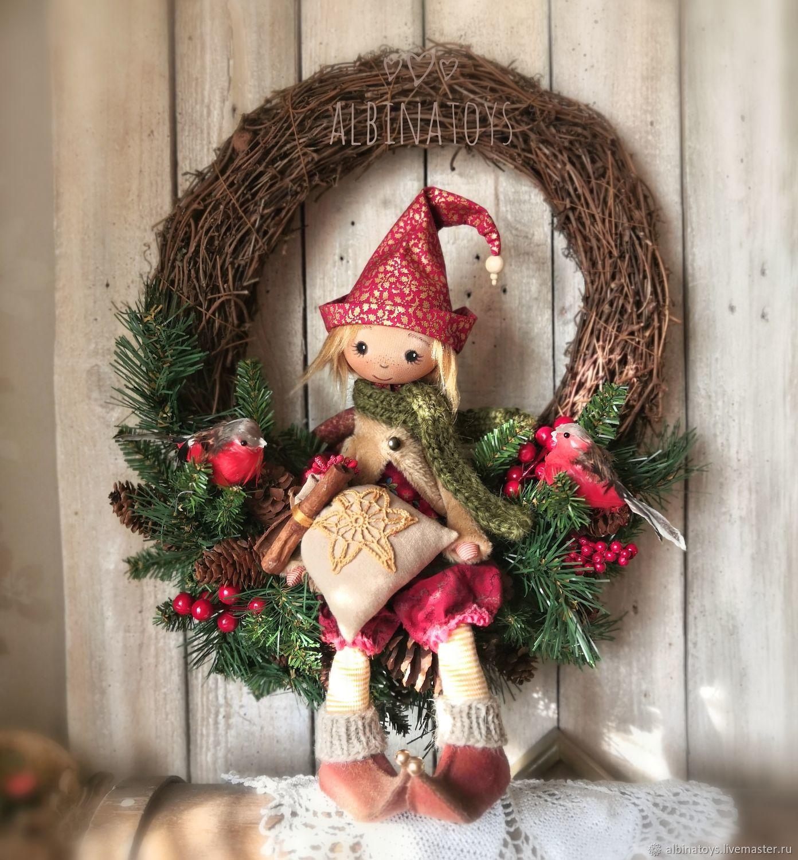 Christmas Elf. New year's dwarf.Christmas, Dolls, Kazan,  Фото №1