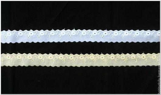 Другие виды рукоделия ручной работы. Ярмарка Мастеров - ручная работа. Купить Шитье узкое с хлопковым рисунком. Handmade. Белый