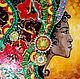 Этно ручной работы. Ярмарка Мастеров - ручная работа. Купить МОНРОВИЯНКА-2 Картина на стекле. Handmade. Африка, украшение интерьера