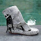 Обувь ручной работы manualidades. Livemaster - hecho a mano De verano, botas de pitón GODELIV. Handmade.