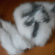 Аксессуары ручной работы. Ярмарка Мастеров - ручная работа Шапка из кроличьего пуха с цветочком. Handmade.