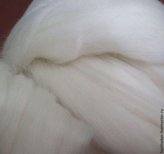 Валяние ручной работы. Ярмарка Мастеров - ручная работа. Купить Шерсть для валяния Chubut, 19,5 мкр. Handmade. Белый