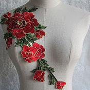 Материалы для творчества handmade. Livemaster - original item Unmatched 3D embroidery, applique, Rouen. Handmade.