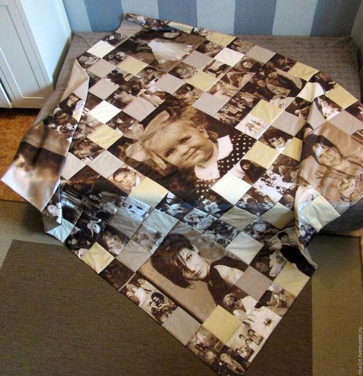 Текстиль, ковры ручной работы. Ярмарка Мастеров - ручная работа. Купить Покрывало с принтами. Handmade. Инь-ян, шелк