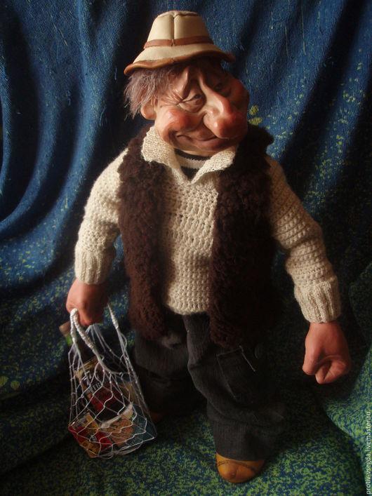 Коллекционные куклы ручной работы. Ярмарка Мастеров - ручная работа. Купить Навеселе. Handmade. Комбинированный, шерстяная пряжа, шерстяная пряжа