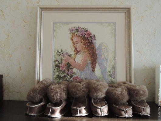 Обувь ручной работы. Ярмарка Мастеров - ручная работа. Купить Обувь из натуральной овчины. Handmade. Бежевый, обувь ручной работы
