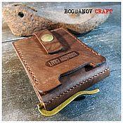 handmade. Livemaster - original item Clip for bills with a card holder, on the button. Handmade.