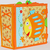 Куклы и игрушки handmade. Livemaster - original item Cubes and books: Educational book of the MARINE FAMILY. Handmade.