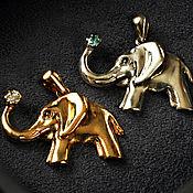 Подвеска ручной работы. Ярмарка Мастеров - ручная работа ПОДВЕСКА «Слон с поднятым хоботом» плодородие, долголетие, изобилие. Handmade.