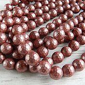 Материалы для творчества handmade. Livemaster - original item Pearl Shell Pearl (similar Mallorca) faceted 10 mm (art. 2625). Handmade.