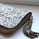 Clutch bag lace beige art. 168, Clutches, Moscow,  Фото №1
