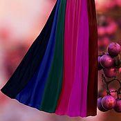 Одежда ручной работы. Ярмарка Мастеров - ручная работа ягодный микс юбка 12-клинка из шифона. Handmade.