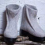 Обувь ручной работы handmade. Livemaster - original item Felted shoes Silver Moon. Handmade.