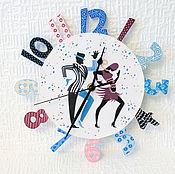 """Для дома и интерьера ручной работы. Ярмарка Мастеров - ручная работа Настенные часы """"Танец"""". Handmade."""