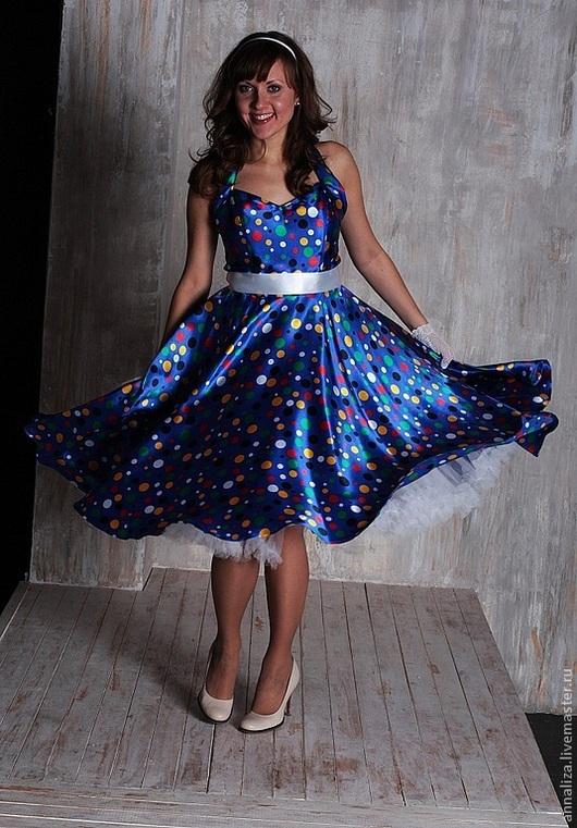 """Платья ручной работы. Ярмарка Мастеров - ручная работа. Купить Платье """"Принцесса на горошине"""". Handmade. В горошек, женское платье"""