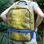 Сумки и аксессуары handmade. Livemaster - original item Backpack Python VESTA. Handmade.